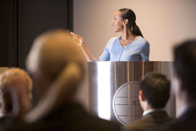 Why women speakers on stage matters