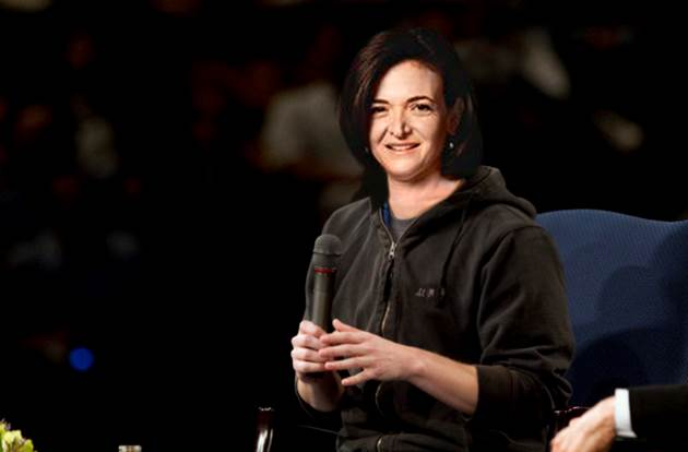 Sheryl Sandberg photo shopped into  Mark Zuckerberg's hoodie