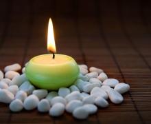 white zen stones