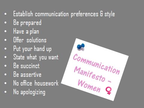Communication Manifesto for women