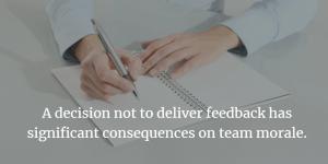 deliver feedback
